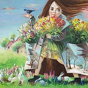 Картины и панно ручной работы. Ярмарка Мастеров - ручная работа Принт Полные карманы весны. Handmade.