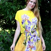 Одежда ручной работы. Ярмарка Мастеров - ручная работа Солнечный день. Батик платье. Handmade.