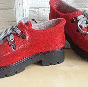 Обувь ручной работы. Ярмарка Мастеров - ручная работа Войлочные полуботинки. Handmade.