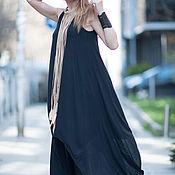 Одежда handmade. Livemaster - original item Long, asymmetrical Jersey tunic - TP0279TR. Handmade.