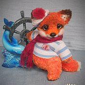 Куклы и игрушки ручной работы. Ярмарка Мастеров - ручная работа Лисенок вязаный Моряк. Handmade.