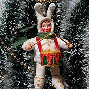 Куклы и игрушки ручной работы. Ярмарка Мастеров - ручная работа ЗаЯц Новогодний. Handmade.