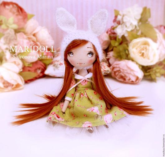 Коллекционные куклы ручной работы. Ярмарка Мастеров - ручная работа. Купить Зайка Nicole интерьерная текстильная кукла. Handmade.