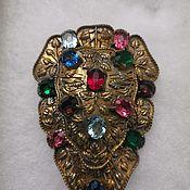 Винтаж handmade. Livemaster - original item Vintage dress clip with colored stones. Handmade.