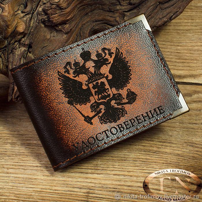 Кожаная обложка для удостоверения TNOther65, Обложка на паспорт, Владимир,  Фото №1