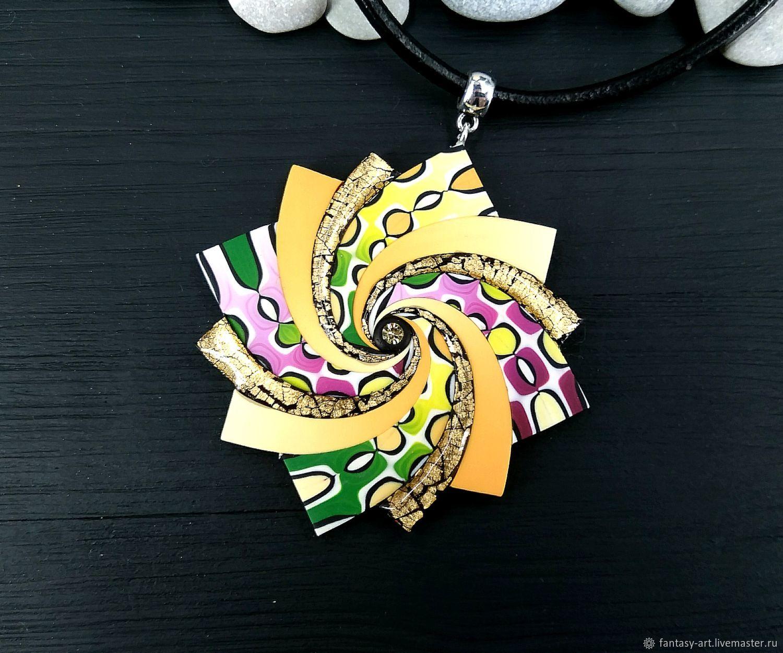 Pendant From Polymer Clay Spiral Star A Riot Of Colors Kupit Na Yarmarke Masterov Hk17bcom Podveska Tambov