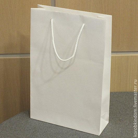 Упаковка ручной работы. Ярмарка Мастеров - ручная работа. Купить Пакет 22х34х8 белый с ручками веревочными. Handmade. Пакет