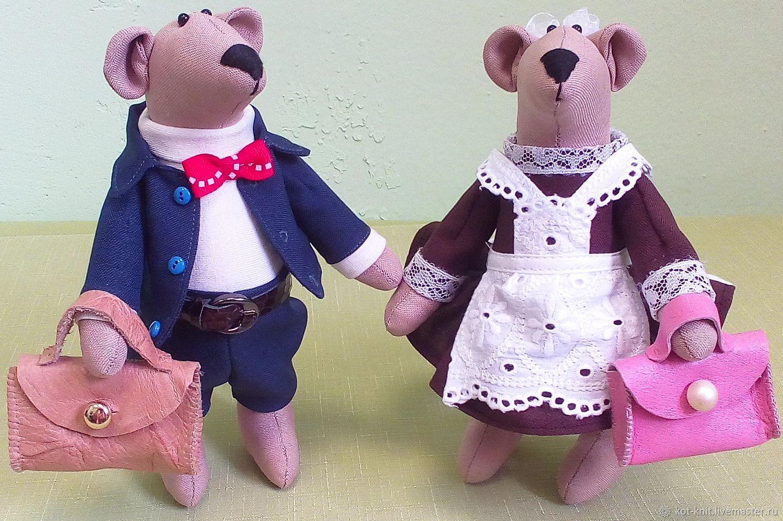 Игрушки животные, ручной работы. Ярмарка Мастеров - ручная работа. Купить И снова в школу. Пара мышей. (усыновлены). Handmade.