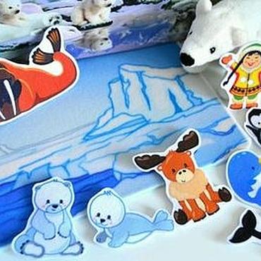 Куклы и игрушки ручной работы. Ярмарка Мастеров - ручная работа Изучаем животных Полярные. Handmade.