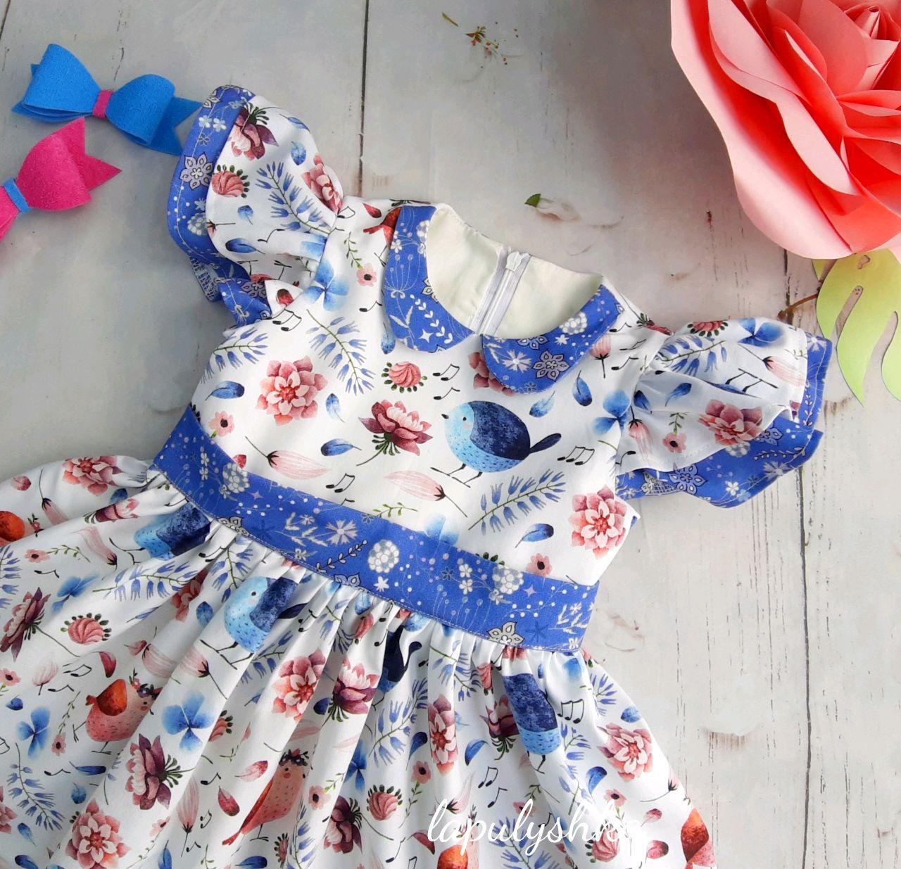Платье птички из 100% хлопка, Польша