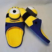 Обувь ручной работы handmade. Livemaster - original item Slippers Minions. Handmade.