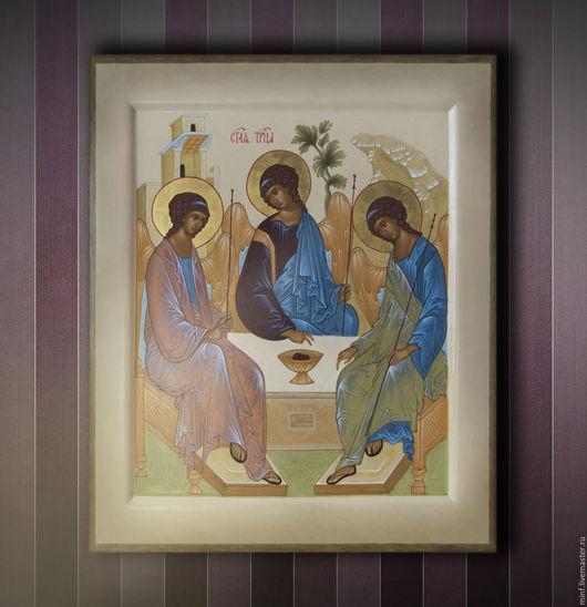 Иконы ручной работы. Ярмарка Мастеров - ручная работа. Купить Икона Троица. Handmade. Троица, церковное искусство