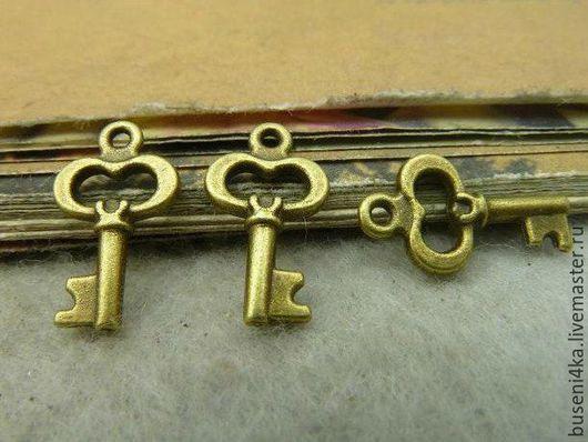 Для украшений ручной работы. Ярмарка Мастеров - ручная работа. Купить Подвеска Ключик №36 античная бронза (1шт). Handmade.
