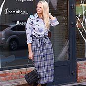 Одежда handmade. Livemaster - original item Eggdress blue SQUARE skirt. Handmade.