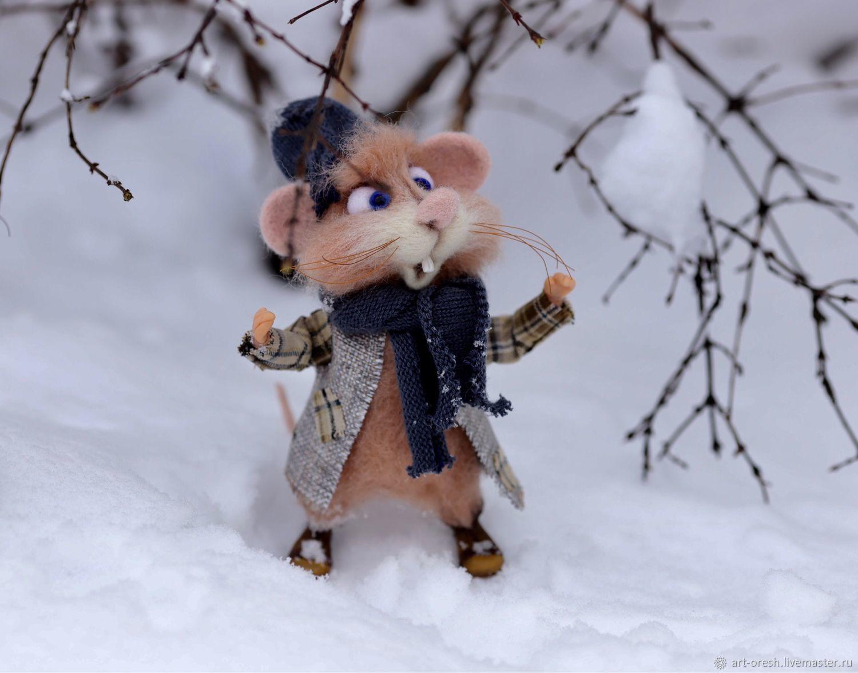 Сколько снега!, Войлочная игрушка, Москва,  Фото №1