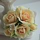 """Свадебные украшения ручной работы. Зажим с розами и сиренью """"Ангел"""". Заколка с цветами. Fleurs de Natali (Швецова Наталья). Ярмарка Мастеров."""