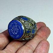 Винтаж ручной работы. Ярмарка Мастеров - ручная работа Винтажное иранское кольцо с лазуритом. Handmade.
