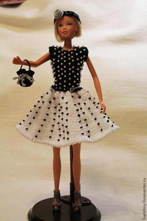 Одежда для кукол ручной работы. Ярмарка Мастеров - ручная работа. Купить Платье для Барби. Handmade. Вязание крючком, платье для Барби