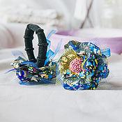 Украшения ручной работы. Ярмарка Мастеров - ручная работа бохо резинки для волос Ночь. Handmade.