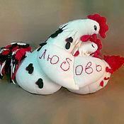 Куклы и игрушки handmade. Livemaster - original item Lovebird Cockerel and a hen.. Handmade.