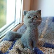 Куклы и игрушки handmade. Livemaster - original item sim. Kitten British breed. the toy is made of wool. Handmade.
