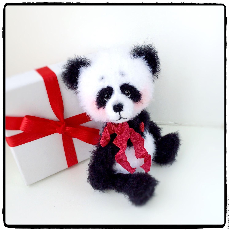 Схема вязания мишки панда 4