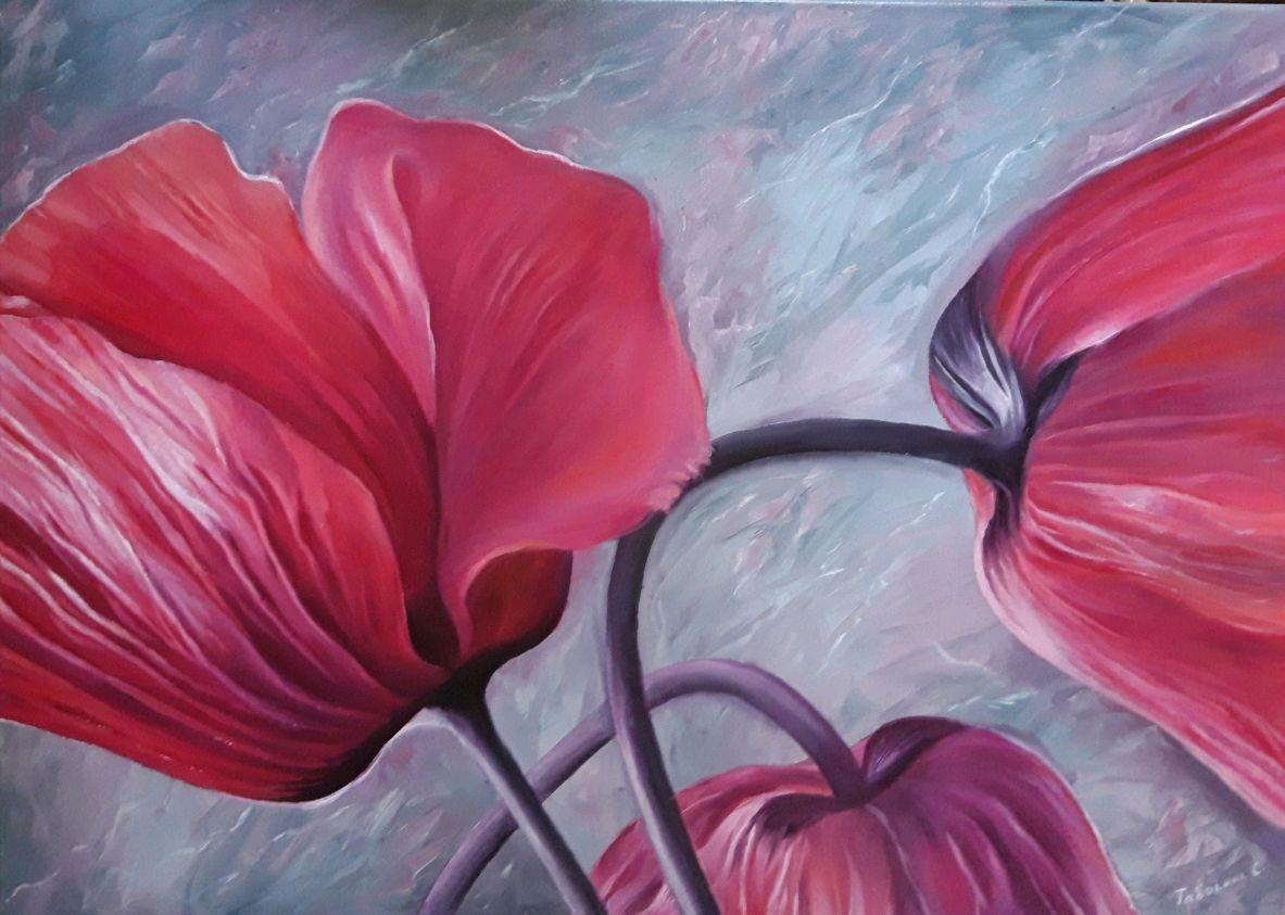 "Картина""Загадочный цветок"". Картина маслом тюльпаны, Картины, Анапа,  Фото №1"