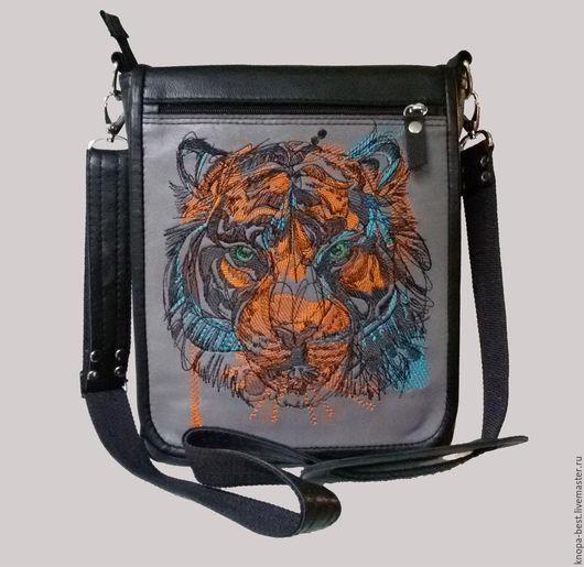 Мужские сумки ручной работы. Ярмарка Мастеров - ручная работа. Купить Кожаный планшет. Handmade. Черный, кожа КРС
