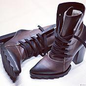 Ботинки ручной работы. Ярмарка Мастеров - ручная работа Зимние ботинки. Handmade.