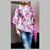 Одежда ручной работы. Ярмарка Мастеров - ручная работа Валяная туника розовые мечты. Handmade.