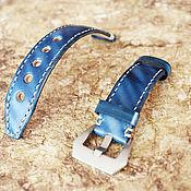 Украшения handmade. Livemaster - original item Blue watchband. Handmade.