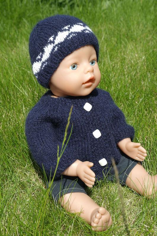 """Одежда для кукол ручной работы. Ярмарка Мастеров - ручная работа. Купить Вязаный  комплект """"Шапка и кофта"""" для куклы Беби Бон.. Handmade."""