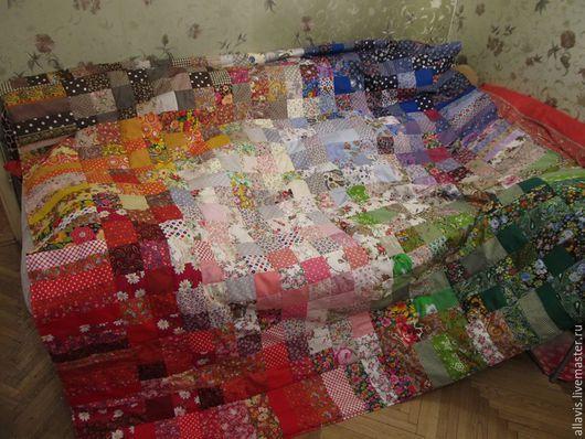 Текстиль, ковры ручной работы. Ярмарка Мастеров - ручная работа. Купить Одеяло 4 настроения. Handmade. Разноцветный, одеяло пэчворк