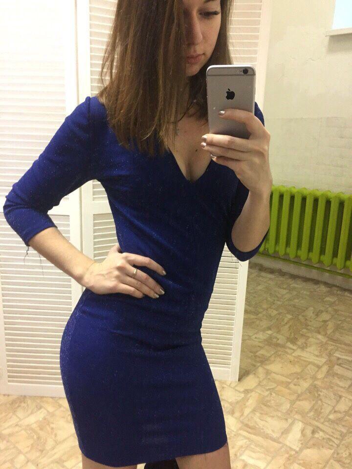 51d6e596352 ... Платья ручной работы. Заказать Платье синее. Ольга. Ярмарка Мастеров.  Платье до колена ...