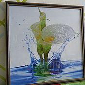 Картины ручной работы. Ярмарка Мастеров - ручная работа картина -алмазная вышивка цветок калла. Handmade.