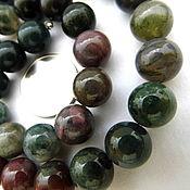 Материалы для творчества ручной работы. Ярмарка Мастеров - ручная работа Яшма 33 камня набор бусины 10 мм гладкий шарик зеленый. Handmade.