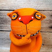 Куклы и игрушки handmade. Livemaster - original item Cat of Silence. Red cat Vasya Lozhkina, soft plush toy. Handmade.
