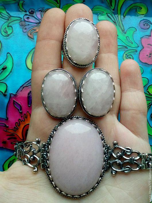 Комплекты украшений ручной работы. Ярмарка Мастеров - ручная работа. Купить 105 Комплект серебрение серьги и кольцо с камнями. Handmade.