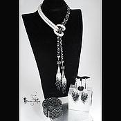 """Украшения ручной работы. Ярмарка Мастеров - ручная работа Лариат из бисера, галстук, пояс  """"Хрустальный мир"""". Handmade."""