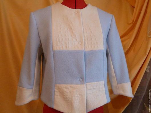 """Верхняя одежда ручной работы. Ярмарка Мастеров - ручная работа. Купить ПАЛЬТО -  ЖАКЕТ  """" BLUE SKY """". Handmade."""