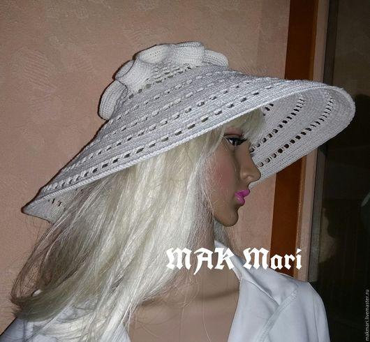 Шляпы ручной работы. Ярмарка Мастеров - ручная работа. Купить Льняная шляпа. Handmade. Бежевый, шляпа женская, 100% лён