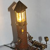 Для дома и интерьера handmade. Livemaster - original item Steampunk lighthouse lamp - nightlight. Handmade.