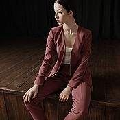 Одежда ручной работы. Ярмарка Мастеров - ручная работа Костюм темно-розовый. Handmade.