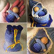 Вальдорфские куклы и звери ручной работы. Ярмарка Мастеров - ручная работа Куколка в волшебном мешочке. Handmade.