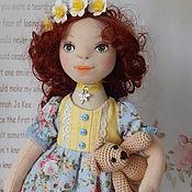 Куклы и игрушки ручной работы. Ярмарка Мастеров - ручная работа Текстильная интерьерная кукла ИРОЧКА. Handmade.