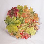 Посуда handmade. Livemaster - original item Openwork dish Autumn maple 40 cm. Handmade.
