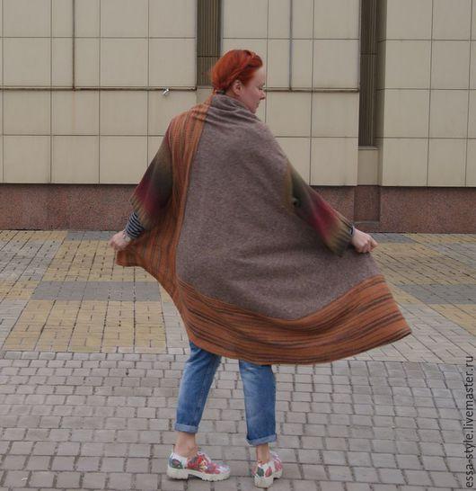 """Верхняя одежда ручной работы. Ярмарка Мастеров - ручная работа. Купить Бохо балахон """"оранжевый"""". Handmade. Бохо, бохо стиль"""