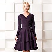 Одежда ручной работы. Ярмарка Мастеров - ручная работа Тёплое платье, на запах, с волшебной юбкой. Handmade.