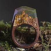 Украшения ручной работы. Ярмарка Мастеров - ручная работа Кольцо из дерева с ювелирной смолой. Handmade.