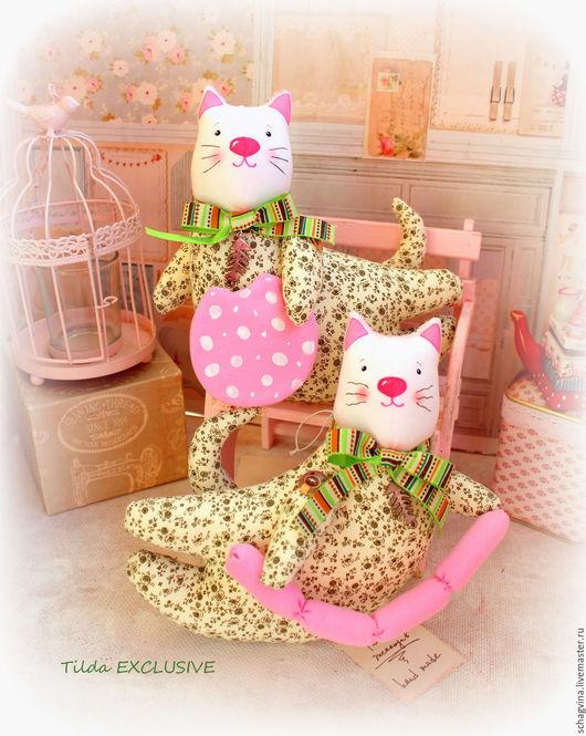 Куклы Тильды ручной работы. Ярмарка Мастеров - ручная работа. Купить Кот с сосисками/колбасой. Handmade. Кот, текстильный кот, киска